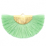 Tassels charm Gold-Turquoise Green