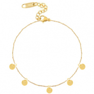 Stainless steel anklets coins Gold