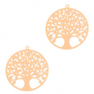 Bohemian charms tree of life 15mm Rose Gold (nickel free)