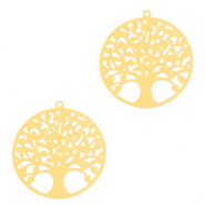 Bohemian charms tree of life 15mm Gold (nickel free)