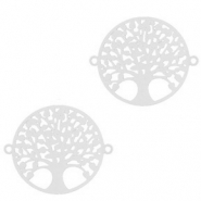 Bohemian connectors tree of life 15mm Silver (nickel free)