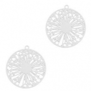 Bohemian charms wish flower Silver (nickel free)