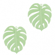 Bohemian charms tropical leaf Meadow Green (nickel free)