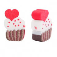 Polymer beads cupcake Brown-Red