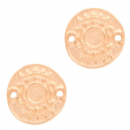 DQ metal settings round 2 loops for SS20 flatback Rose Gold (nickel free)