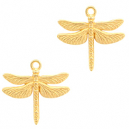 DQ European metal charms dragonfly Gold (nickel free)