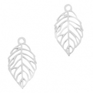 Stainless steel charms leaf Silver