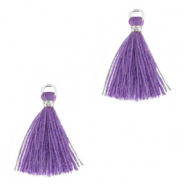 Tassels 1.5cm Silver-Chive Blossom Purple