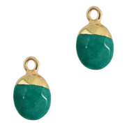 Natural stone charms Eden Green-Gold