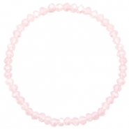 Top faceted bracelets 4x3mm Peach Pink Opal-Pearl Shine Coating
