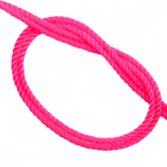 Trendy cord woven Neon Pink