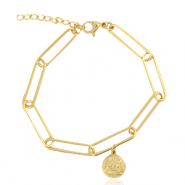 Stainless steel bracelets coin Gold