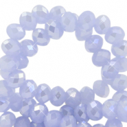 Top faceted beads 3x2mm disc Chambray Blue-Pearl Shine Coating