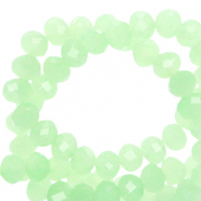 Top faceted beads 4x3mm disc Paradise Green-Pearl Shine Coating