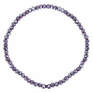 Top faceted bracelets 3x2mm Grape Purple-Pearl Shine Coating
