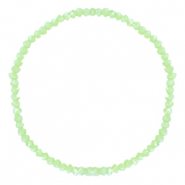 Top faceted bracelets 3x2mm Dark Paradise Green-Pearl Shine Coating