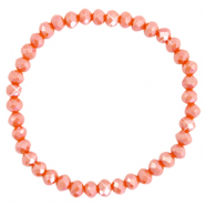 Top faceted bracelets 6x4mm Spicy Orange-Pearl Shine Coating