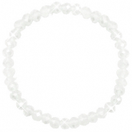 Top faceted bracelets 6x4mm White-Pearl Shine Coating