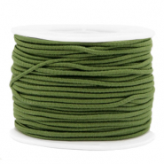 Coloured elastic cord 2mm Olive Green