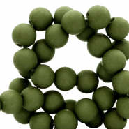 8 mm acrylic beads Dusty Olive