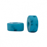 Polaris beads disc 6mm Lava Blue Moon
