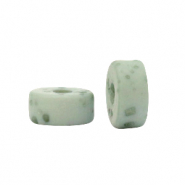 Polaris beads disc 4mm Lava Granite Green