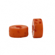 Polaris beads disc 4mm Lava Copper Brown