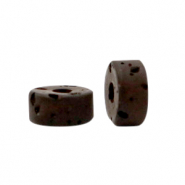 Polaris beads disc 6mm Lava Wild Ginger Brown