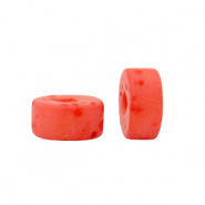 Polaris beads disc 4mm Lava Hot Coral Red
