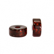 Polaris beads disc 4mm Glitzer Wild Ginger Brown