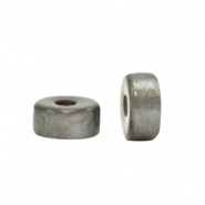 Super Polaris beads disc 6mm Quiet Grey