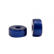 Super Polaris beads disc 6mm Deep Blue