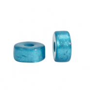 Super Polaris beads disc 6mm Blue Moon