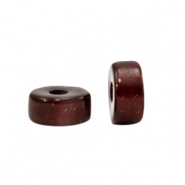 Super Polaris beads disc 4mm Wild Ginger Brown