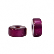 Super Polaris beads disc 6mm Gorgeous Grape Purple