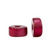 Super Polaris beads disc 6mm Fuchsia Red
