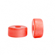 Super Polaris beads disc 6mm Hot Coral Red