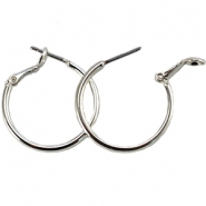 DQ creole earrings 25mm Silver plated