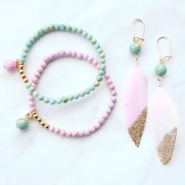 Inspirational Sets Stylish jewellery with jade beads