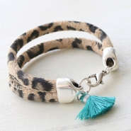 Inspirational Sets Faux leather jewellery with leopard print