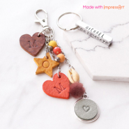 Inspirational Sets Creating keychains with ImpressArt and DQ European leather pendants