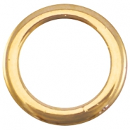 Closed DQ metal ring 18mm Gold ( nickel free)