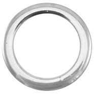 Closed DQ metal ring 11x1.5mm Antique  Silver (nickel free)