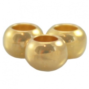DQ metal ball 4x2.5mm Gold (nickel free)