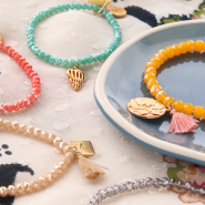 Inspirational Sets DIY: easy faceted bracelets
