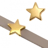 DQ metal slider star Ø5.2x2.2mm Gold (nickel free)