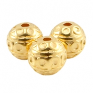DQ metal deco bead 8mm Gold (nickel free)