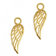 DQ metal charms angel wing Gold (nickel free)