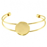 Metal bracelet for 20mm cabochon Gold