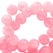 8mm crackled opal glass beads Rose pink
